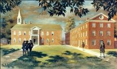 College of Philadelphia, first campus,  Fourth and Arch Streets, ca. 1751