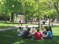 Blanche P. Levy Park (The College Green), center of the Penn campus