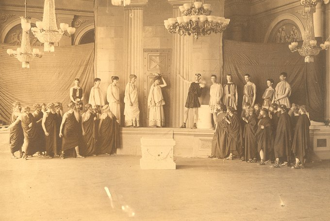 Scene from the 1886 student production of Aristophanes' Acharnians